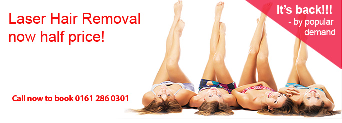 laser hair removal deal south manchester half price