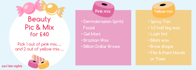 Beauty Pick n Mix Deal South Manchester Facials, Nails, Spray Tan