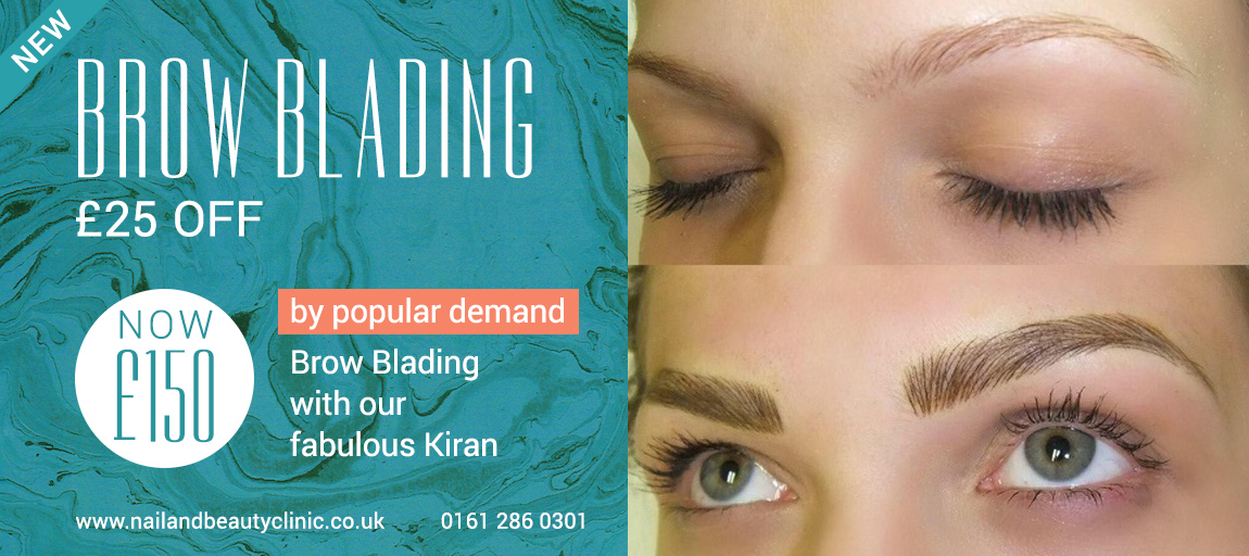 Brow Blading Cheshire Manchester offer
