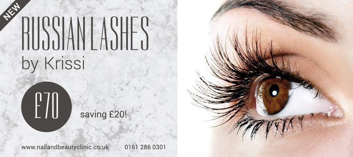 Russian lashes offer cheshire manchester