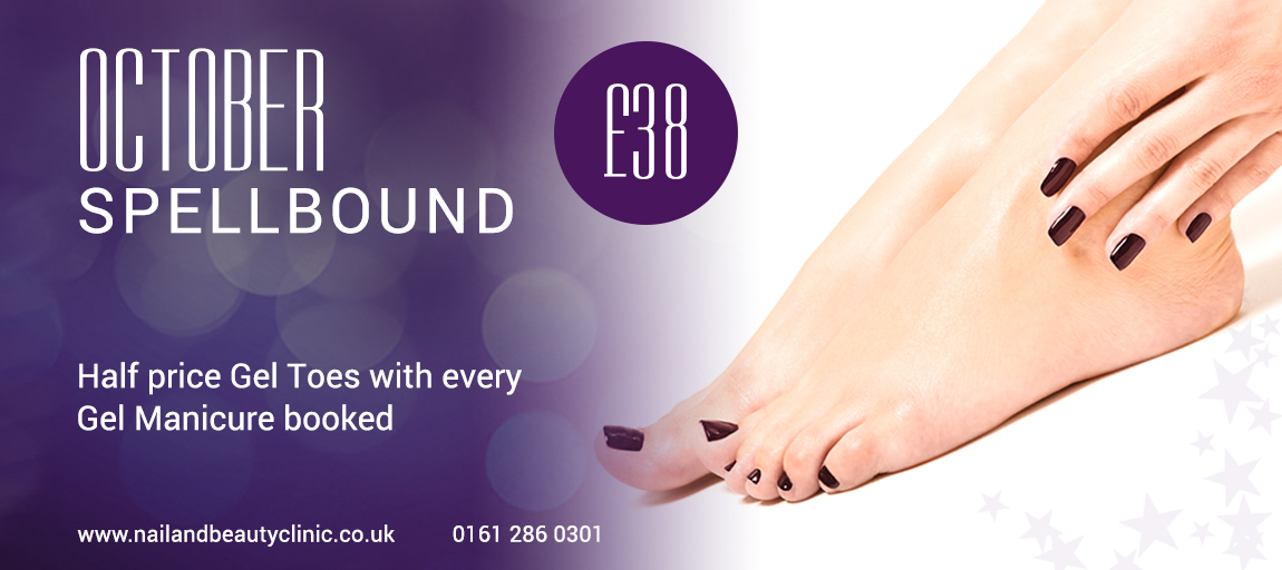 Gel mani toes beauty offer Manchester Cheshire